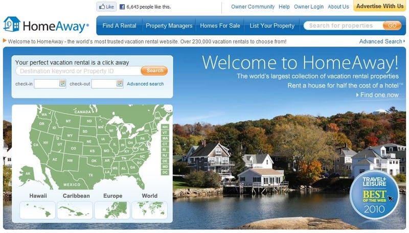 HomeAway Catalogs Vacation Rentals Across the World