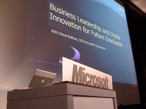 Steve Ballmer's Presentation Laptop is a Strange Choice