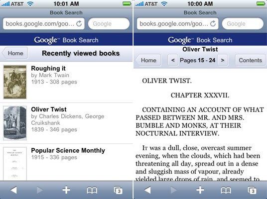Google Books On The iPhone and G1 Is Almost Kindle-Like (And Real Mobile Kindle May Be Coming Soon)