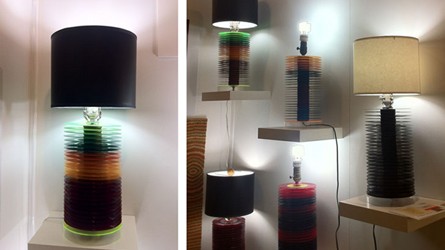 Recycled Vinyl Records Become Bases for Beautiful Lamps
