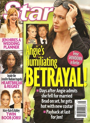 Olsen Twins Planning Boob Jobs, Brad Planning Affair, Aniston Knocked Up & Planning Wedding