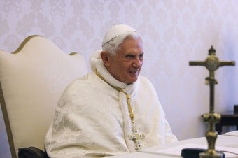 Pope Applauds Efforts To Fight Gay Rights