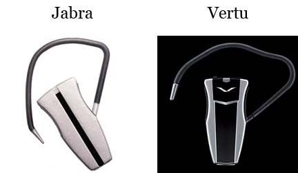 Jacob Jensen-fied Vertu Aerius Bluetooth Headset
