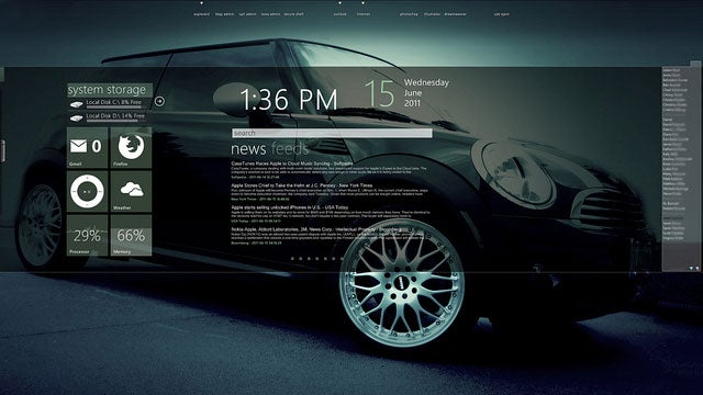 The MINI Info Panel Desktop
