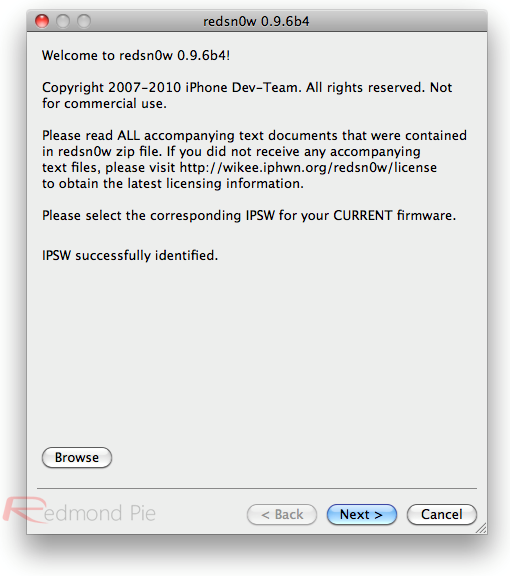 Redsn0w 0.9.6b4 Update Jailbreaks iOS 4.2.1 Devices