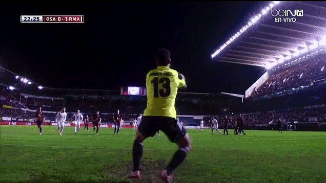 Cristiano Ronaldo Scores Goal Off Goalie's Taint