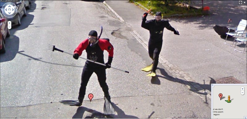 Absurd Mysteries: Scuba Divers Chase Google Street View Car