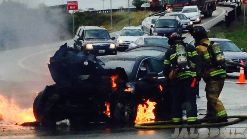 What To Do When Your Electric Car Catches On Fire: An Explainer