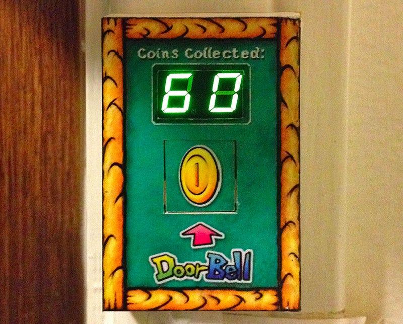 A Mario Coin Doorbell Grants Infinite Annoyance