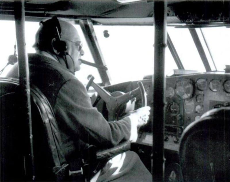 Churchill Flying A Boeing Clipper