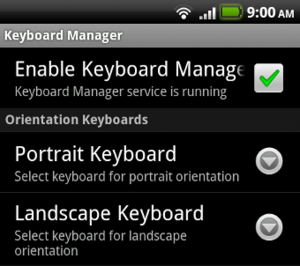 Keyboard Manager Automatically Sets Your Android Keyboard Based on Screen Orientation