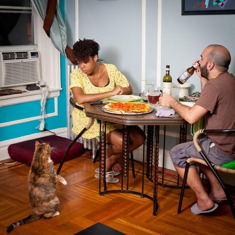 People Eating Dinner In New York