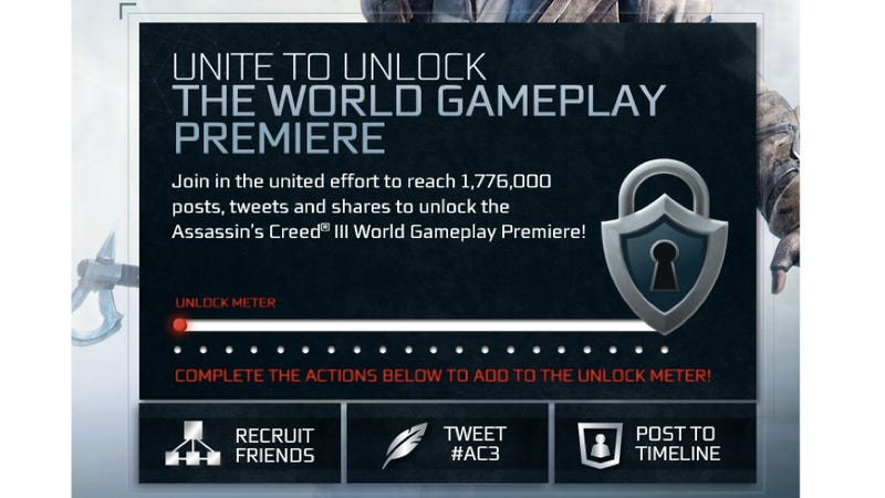 This is a Weird, Depressing Way To Unlock a New Assassin's Creed Trailer