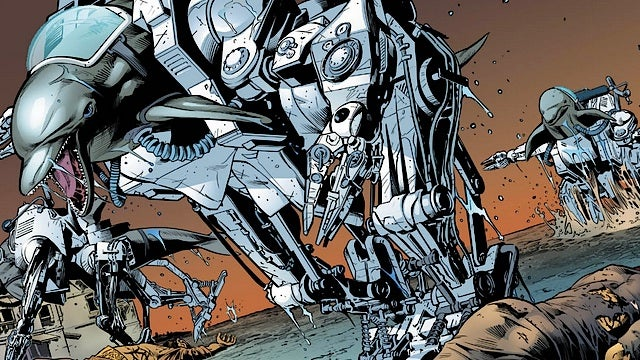 It's knights versus cyborg dolphins, in this sneak preview of Stormwatch