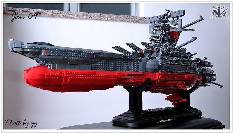 Space Battleship Yamato Cruises into Lego Form