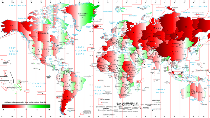 How the Time of Sunrise and Sunset Varies Around the Wrold