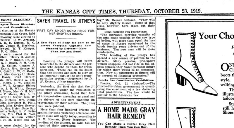 Uber Is Currently Fighting the Battle That Jitneys Lost 100 Years Ago