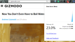 Google's Data Saver for Chrome Optimizes Web Pages to Use Less Data