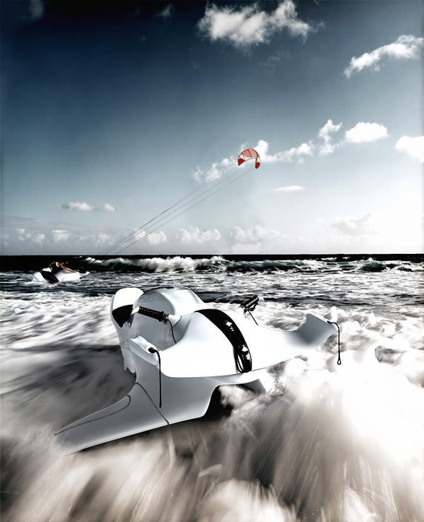 Nereus Kite-Powered Water Pod Racer Can Dive
