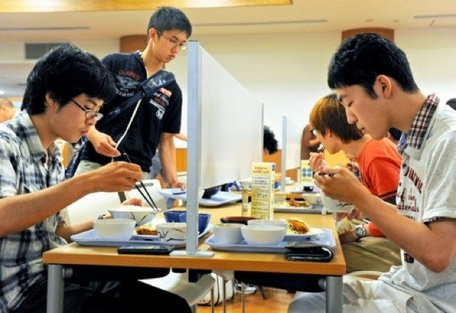 """Japanese University Makes Special """"Forever Alone"""" Dining Tables"""