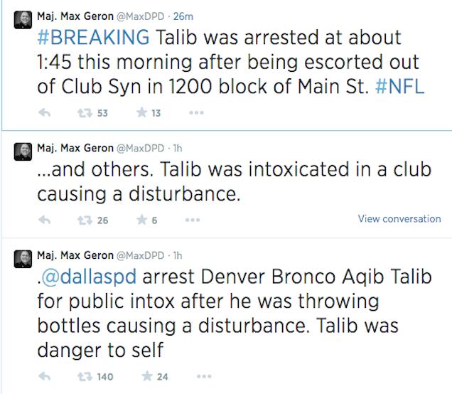 Dallas Police Arrest Aqib Talib's Brother, Say They Arrested Aqib