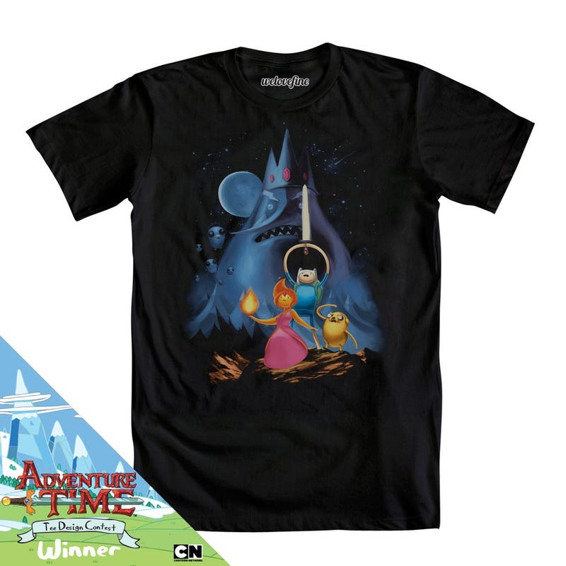 The winners of the Adventure Time T-shirt contest are just smashing