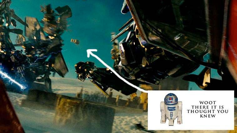 R2-D2 Caught In Transformers 2