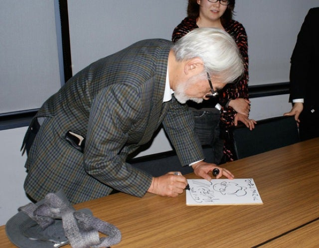 You Sure Hayao Miyazaki Doesn't Sign Autographs in Japan?