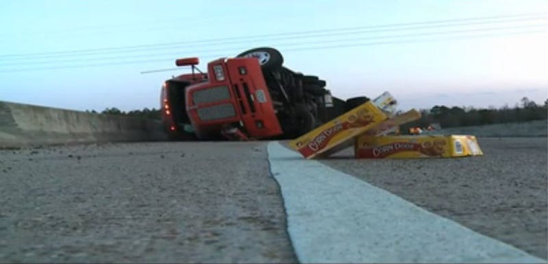 Massive Corndog Spill Shuts Down Highway