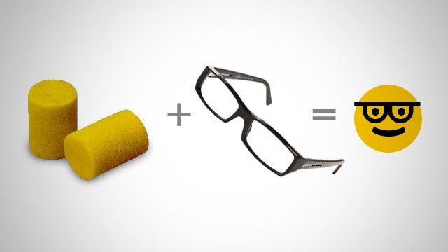 Add Foam Earplugs to Your Eyeglasses for a More Comfortable Fit