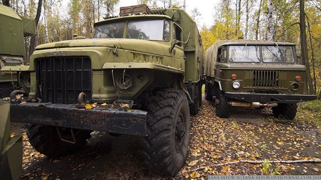 Excellent pictures of abandoned Russian military vehicles found in the woods