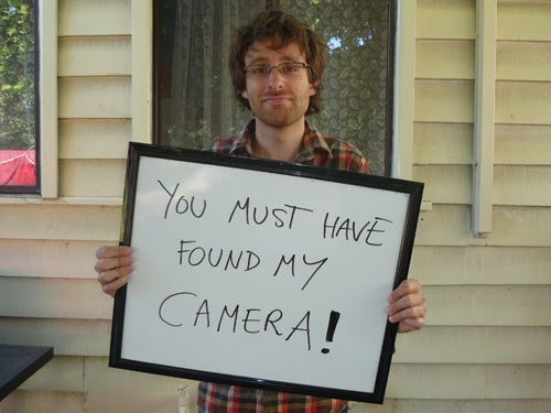 Get Your Camera Returned with a Great Photo Message