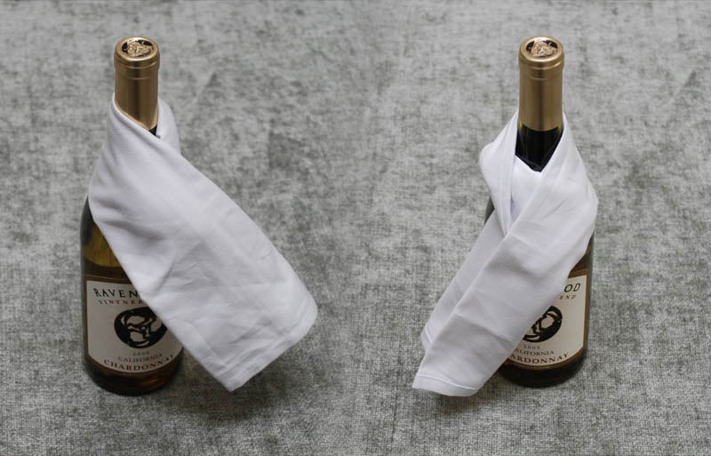 How to Wrap a Wine Bottle Restaurant-Style