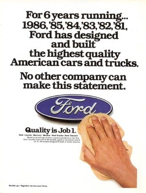 One Ford: Way Forward Or Way Too Late?