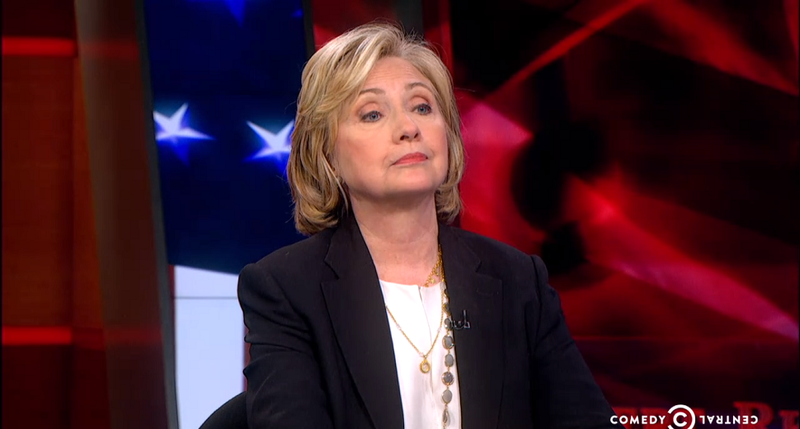 Hillary Clinton Visits The Colbert Report by Random Coincidence