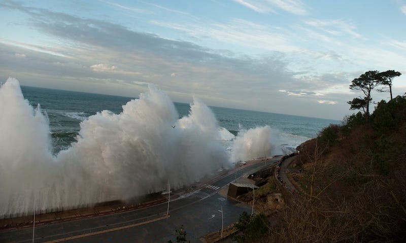Massive Tidal Waves In Spain Are Washing People Away