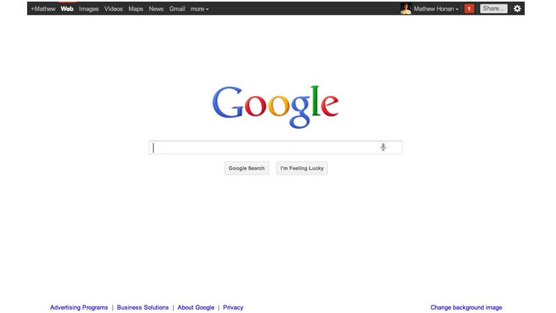 Google's New Home Page Pushes You to Plus