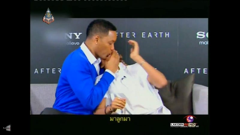 Will Smith Makes Out With Son Jaden During Interview on Thai TV