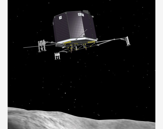 This spidery spacecraft will be the first to soft-land on a comet