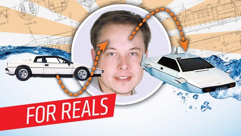 ZOMG! Elon Musk To Turn Lotus Submarine Into Working Bond Car