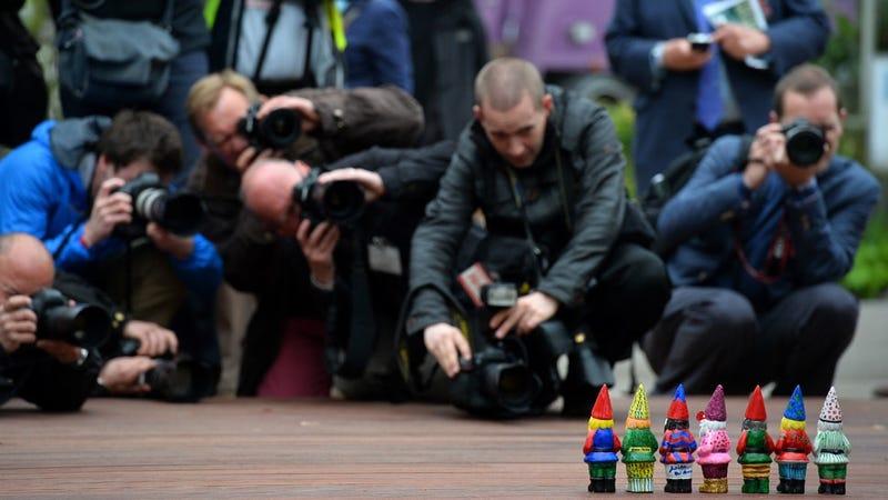 Anarchist Garden Gnomes Invade Fancy British Flower Show
