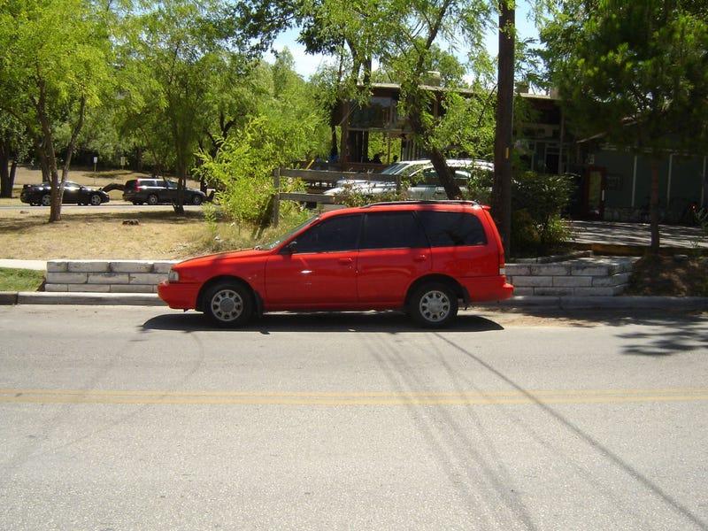 Mystery Nissan Minivan-ish Wagon Down On The Austin Street