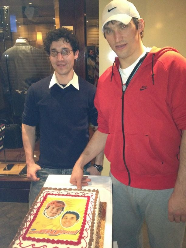 Alex Ovechkin Met A Contest Winner, And They Had A Cake With Both Their Faces On It