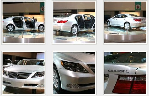 LA Auto Show Blasting: Truth in Mastheads; Lexus LS600hL Headlights Are the Radness