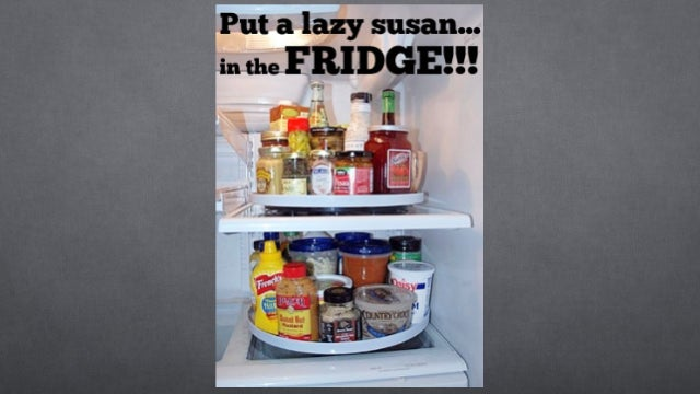 Organize Your Fridge With a Lazy Susan