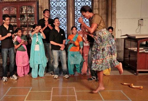 Michelle Obama Challenges Children To A Dance-Off