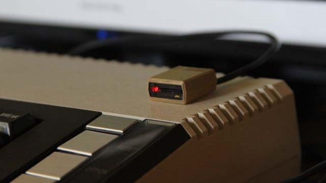 Just You Try and Stick a Floppy Disk Into This Atari MicroSD Card Reader