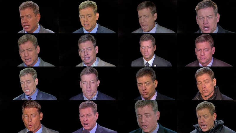 The Evolution Of Troy Aikman's Face, 2010-2014