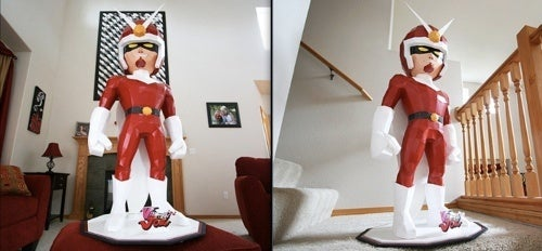 This Viewtiful Joe Papercraft Is 3.5 Feet Tall