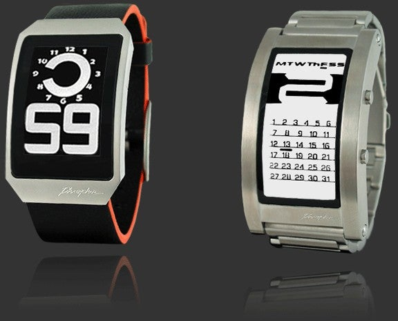 New Phosphor Watches Feature Curved E-Ink Displays and Non-Nerdy Style